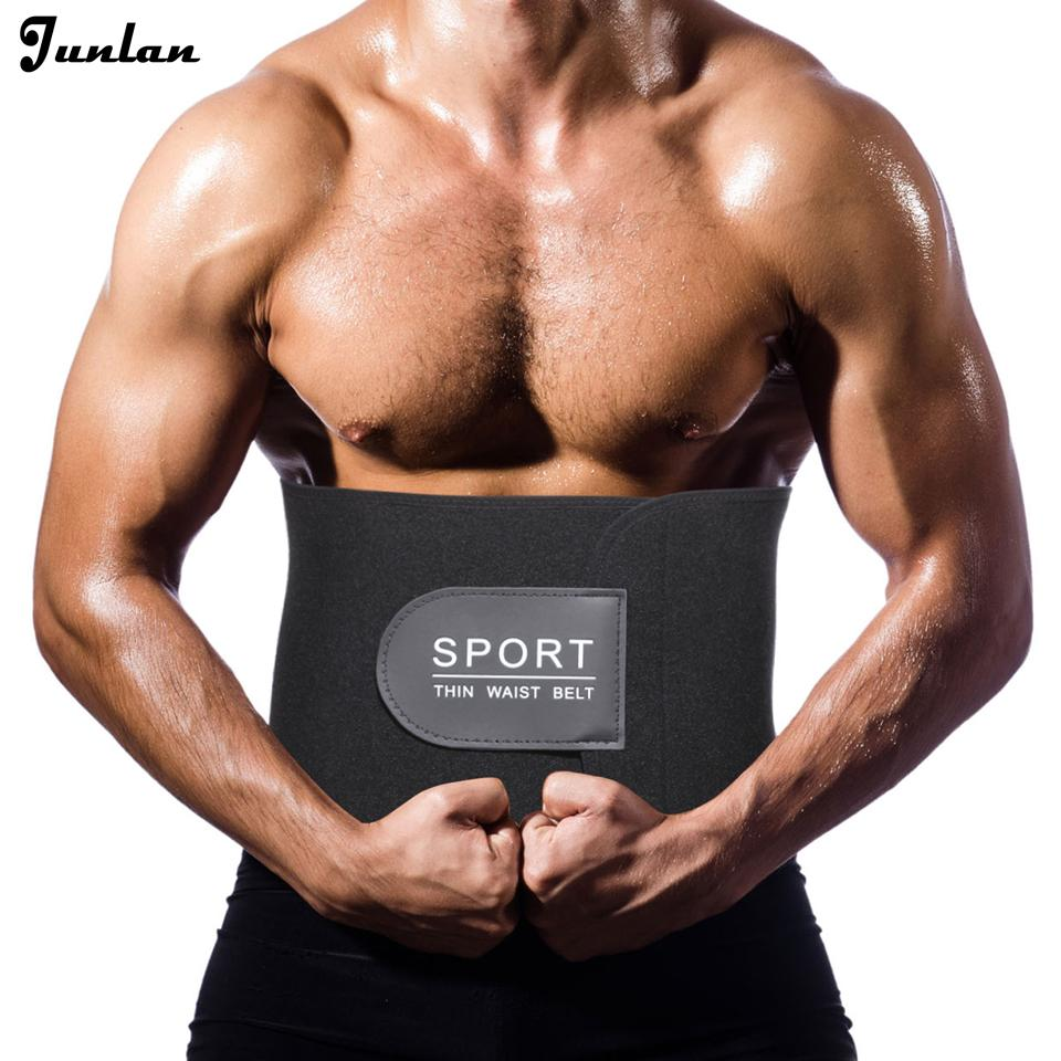 5b23fa347a9 Junlan Man s Slimming Belt Neoprene Adjustable Thin Waist Trainer ...