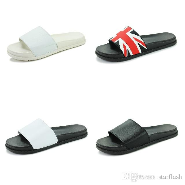 86a3aaee3228a Summer Beach Slippers Men Shoes Women Designer Slides England UK Flag Thick Sandal  Slippers Flip Flops Wide Flats Size 36 44 Q 438 Moccasins Thigh High ...