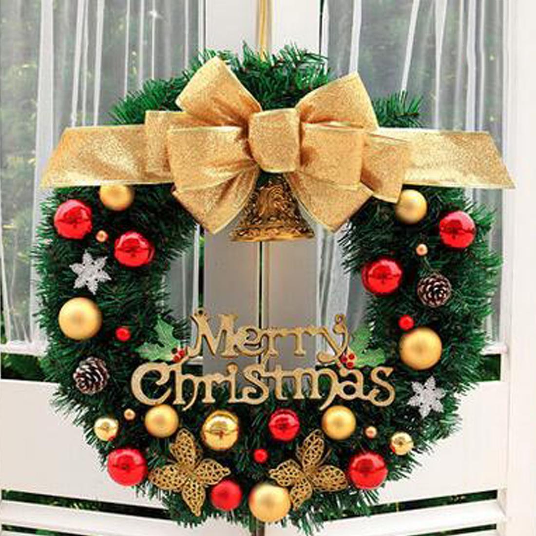 New Arrival Nowy Rok Boże Narodzenie Dekoracje Do Drzwi Domu I Okna Dekoracje Boże Narodzenie Wieniec Luksusowe Wesołych Świąt Party