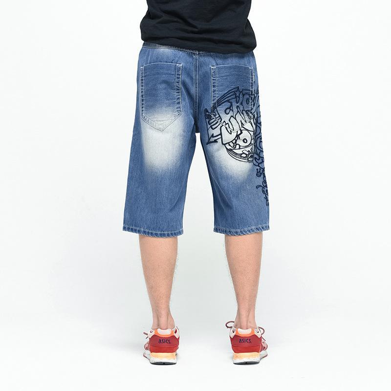La Hop Plus Hommes Baggy Taille Acheter Shorts Denim Jeans 2018 Hip rQBxotdshC