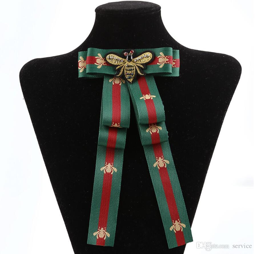 2019 Bow Brooch For Women Fabric Strip Elegant Insect Occupation