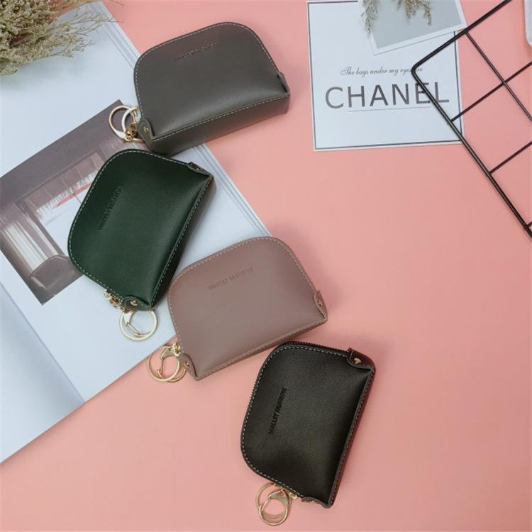 d2d1089efeb Coin Purse Female Mini Fashion Zipper Japan And South Korea Simple Small  Wallet Coin Bag Key Package Card Package Tide Female Wallets Wallet Clutch  From ...