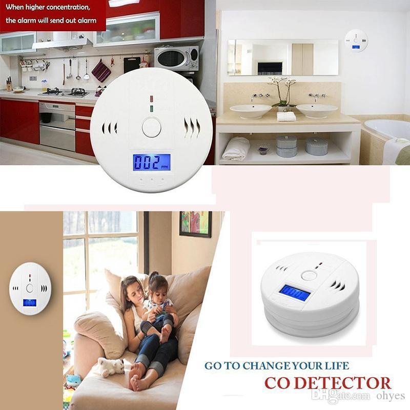 CO Carbon Monoxide Gas Sensor Monitor Alarm Poisining Detector Tester For Home Security Surveillance Hight Quality new 2018