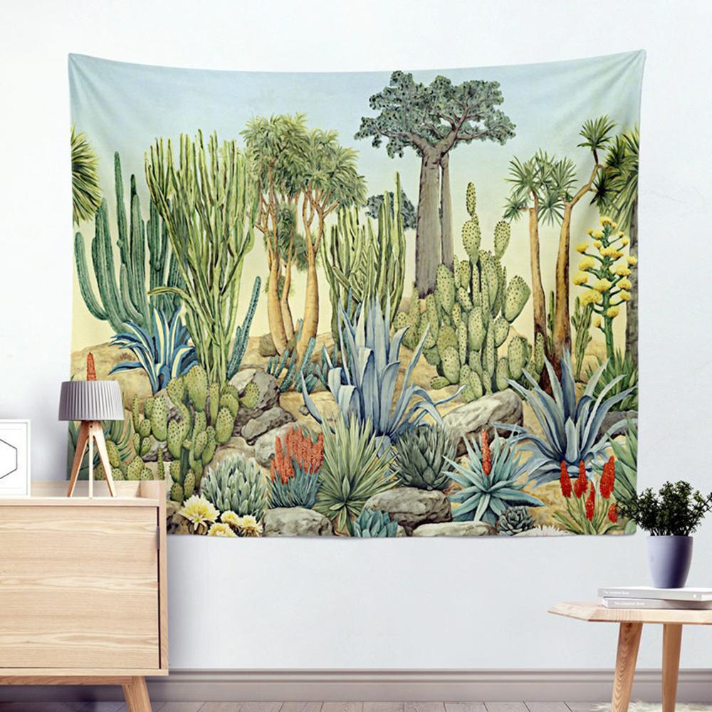 Acheter Cactus Aquarelle Mandala Tapisserie Bohémienne Suspendus