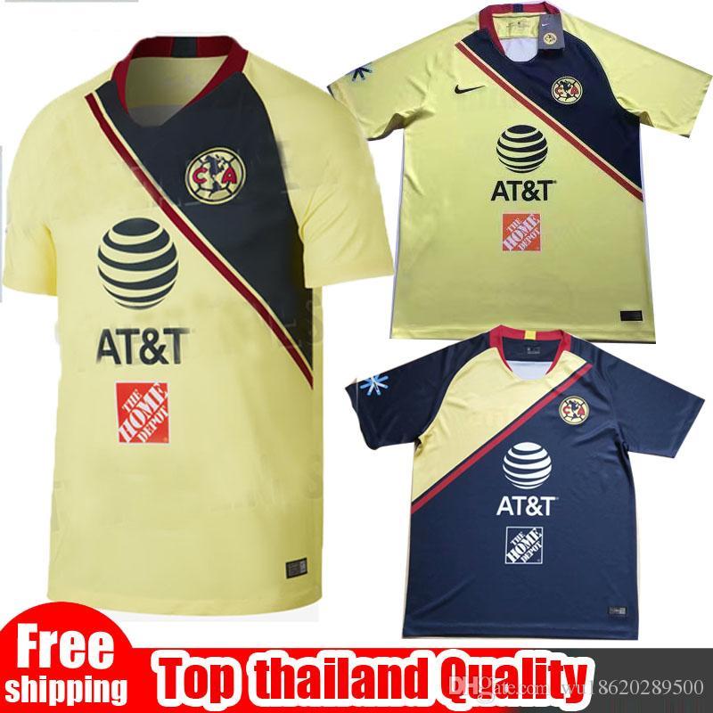 2019 2018 19 LIGA MX Club America Soccer Jerseys 2018 I.RENATO C.DOMINGUEZ  MATHEUS Home Away Third Yellow 17 18 O.PERALTA Football Shirt Uniform From  ... c6c74026d