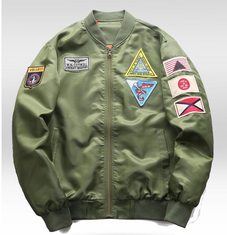 Bomber Compre Ma1 Chaqueta Pilot Hombres Epaulet Airplane Design LUqSzMVGp