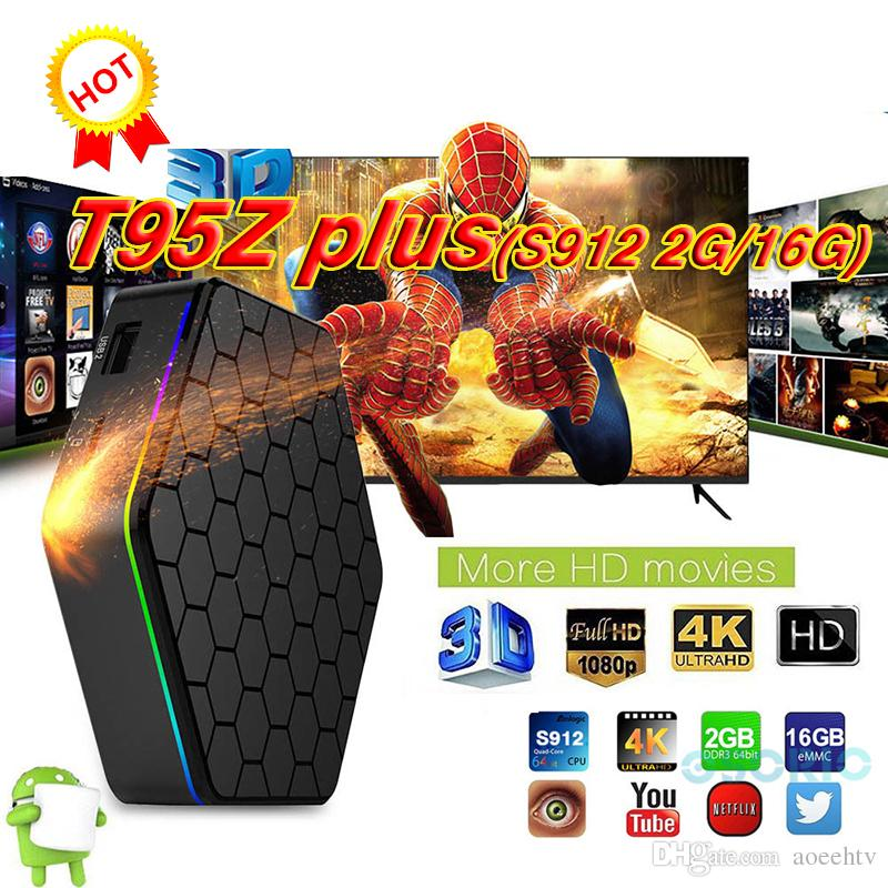 2018 OEM Amlogic S912 TV Boxes T95Z Plus 2GB 16GB Octa core 2 4G/5G WIFI  BT4 0 4K H 265 Android 7 1 Smart TV Box
