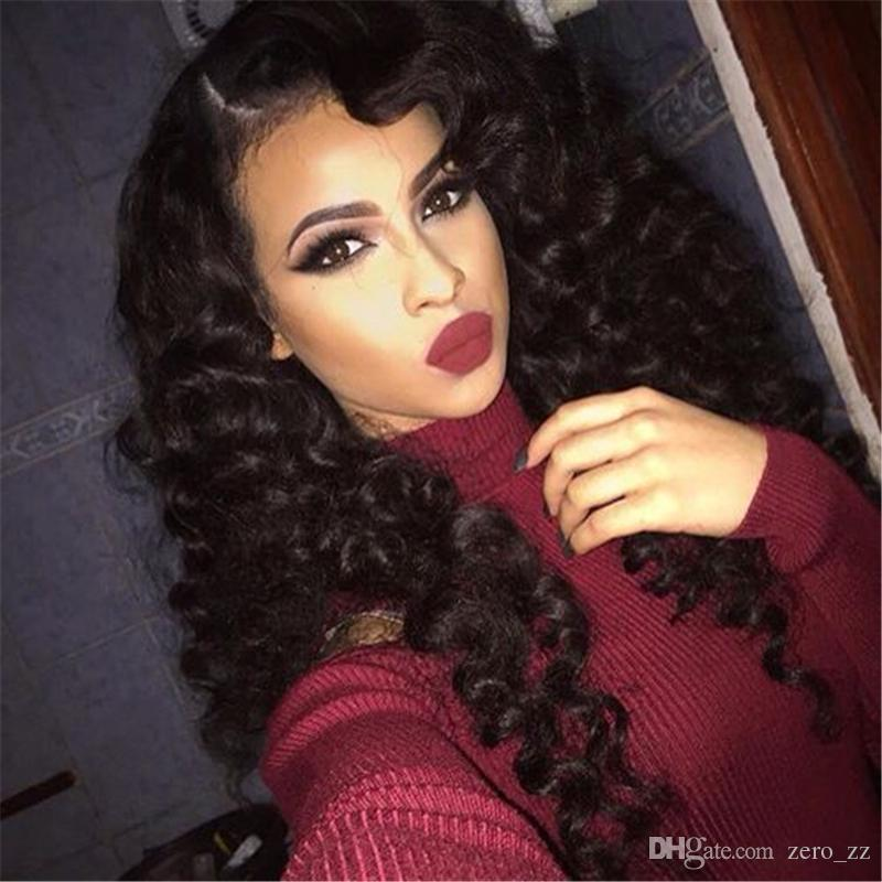 Free Part Full Lace Wigs With Baby Hair 9A Water Wave Brazilian Virgin Glueless Lace Front Human Hair Wigs For Black Women
