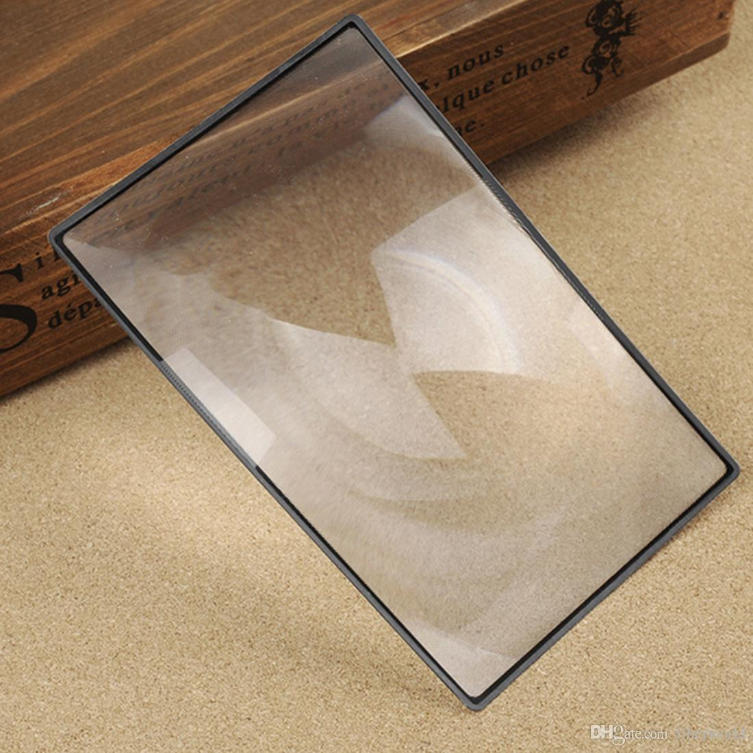 180X120mm Convinient A5 Flat PVC Magnifier Sheet X3 Book Page Magnification Magnifying Reading Glass Lens