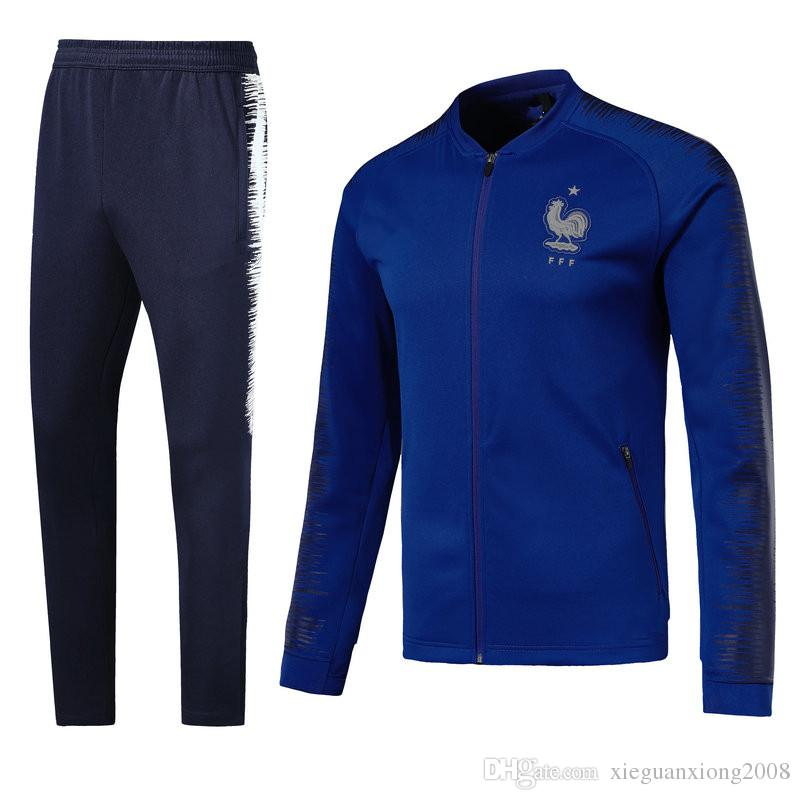 79edfbc48 2018-19 World Cup French Football Jacket GRIEZMANN Football Training Suit  High Quality French POGBA Track Suit Online with  45.92 Piece on ...