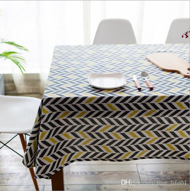 Newly Linen Tablecloth With Yellow Green Bicolor Table Cloth Art Dinner  Table Cloth Home Decoration Trendy Table Cover For Wedding Party Fabric  Tablecloth ...