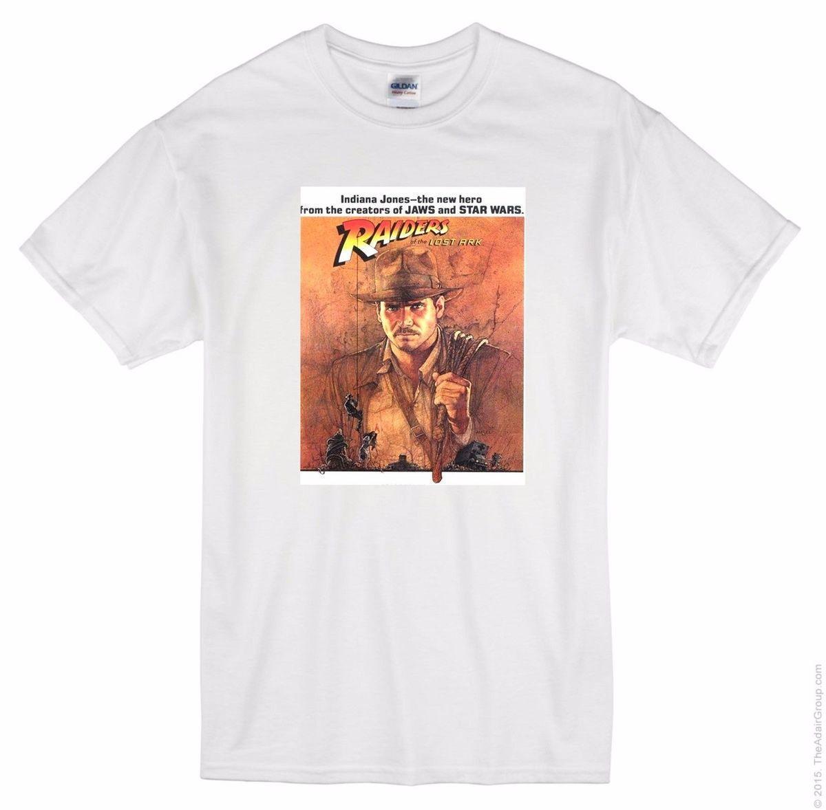 Indian Jones Raiders T Shirt Movie Film Cinema Wall Home Posters