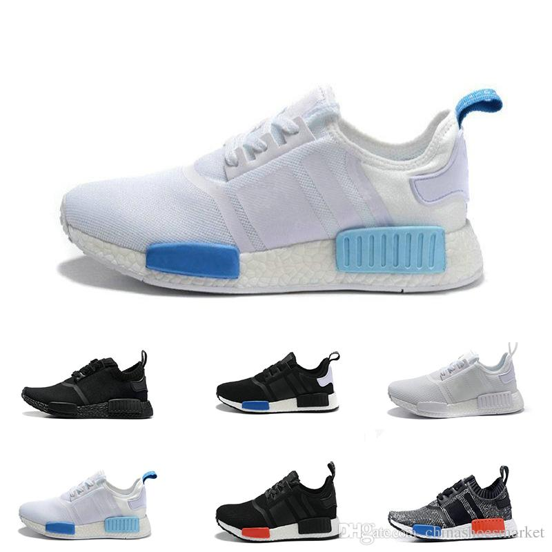 7d7322226 NMD R1 Running Shoes Men Women Primeknit Triple Black White Pk Tri-Color Runner  Shoes Classic Sports Trainer Sneaker Shoe Eur 36-45 Nmd Nmd R1 Running Shoes  ...