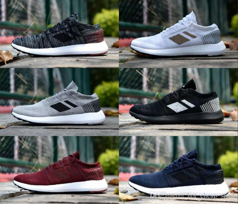 4cef8475f5846 2018 New PureBOOST Go Pure Comfortable Running Shoes For Women Mens  Chaussures Black White Red Blue Trainers Designer Brand Sneakers 36 45 Top  Running Shoes ...