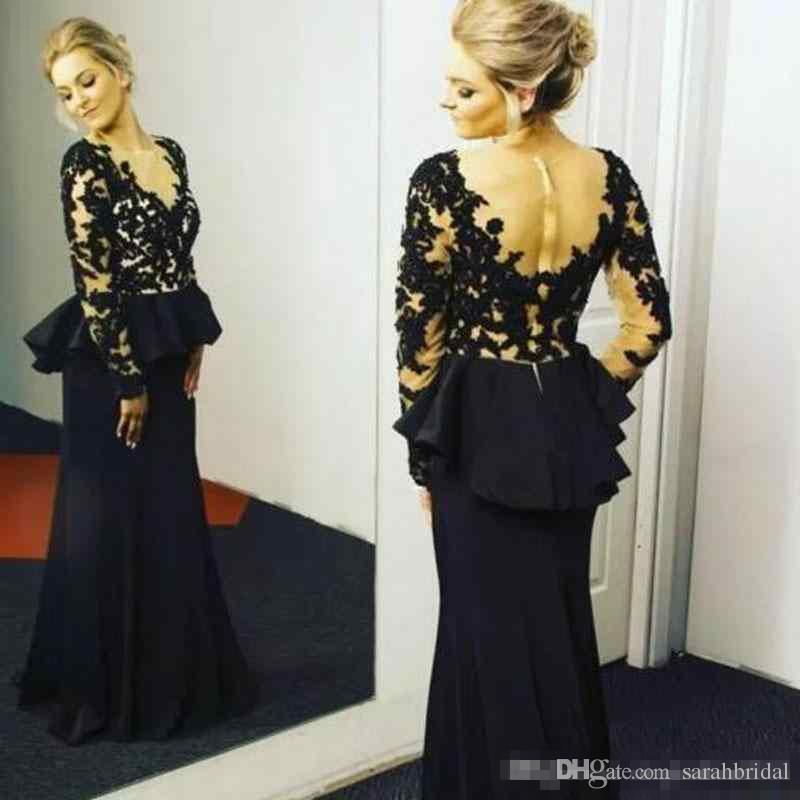 Hairstyle For Wedding Godmother: Plus Size 2018 Mother Of The Bride Dresses Long Sleeves