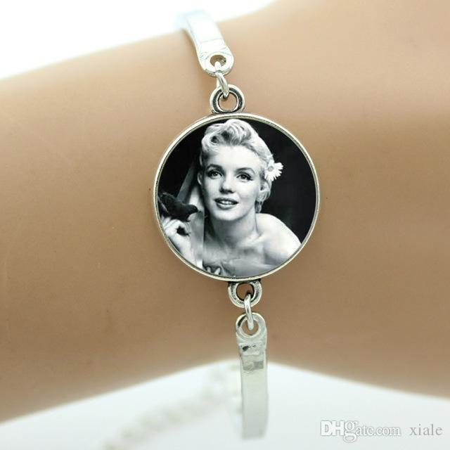 Vintage Marilyn Monroe Poster Bracelet Fashion Pretty Movie Star