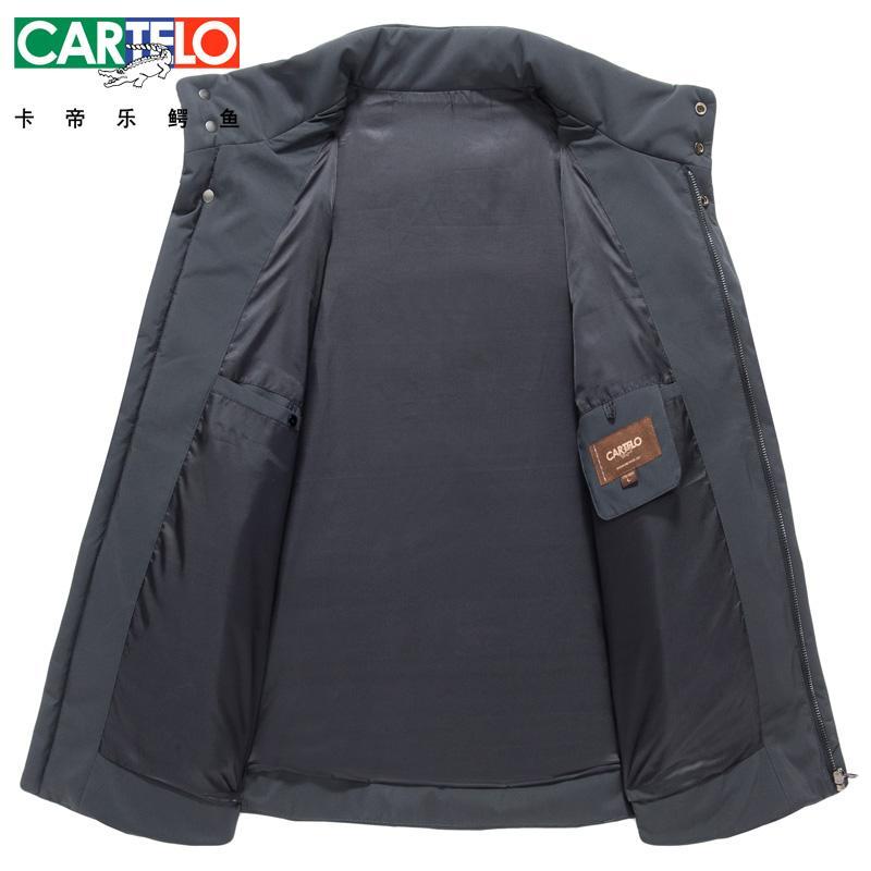 Cartelo / marke 2017 Neue Casual Marke Weiße Ente Daunenjacke Männer Herbst Winter Warmen Mantel Mode Dicke Parka Jacke Mantel Für Männer
