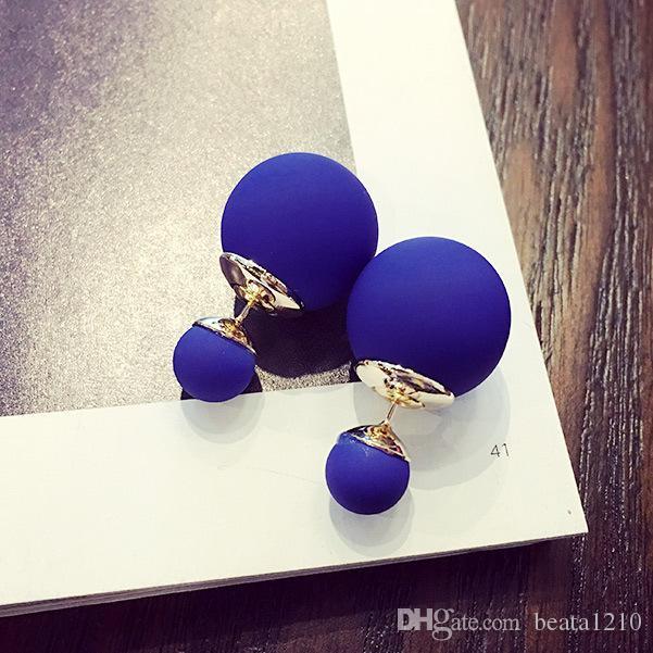 10 пар Перл серьги шпильки серьги для женщин 2018 новый цвет конфеты серьги микс корейский стиль подарок идеи мода ювелирный магазин