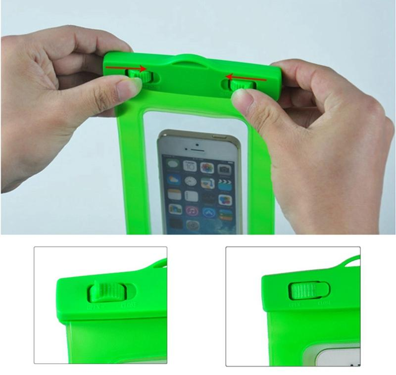 Waterproof Bag Pouch Support Screen Touch For Diving Drifting Strong Protection Water Proof Cell Phone Storage Bag