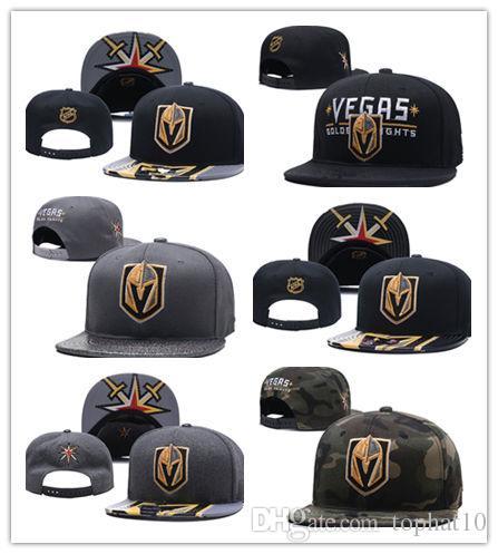 9c68d8de851da Wholesale New Caps Vegas Golden Knights Hockey Snapback Hats Black Color  Cap Gold/Black/Gray Visor Team Hats Mix Match Order All Caps
