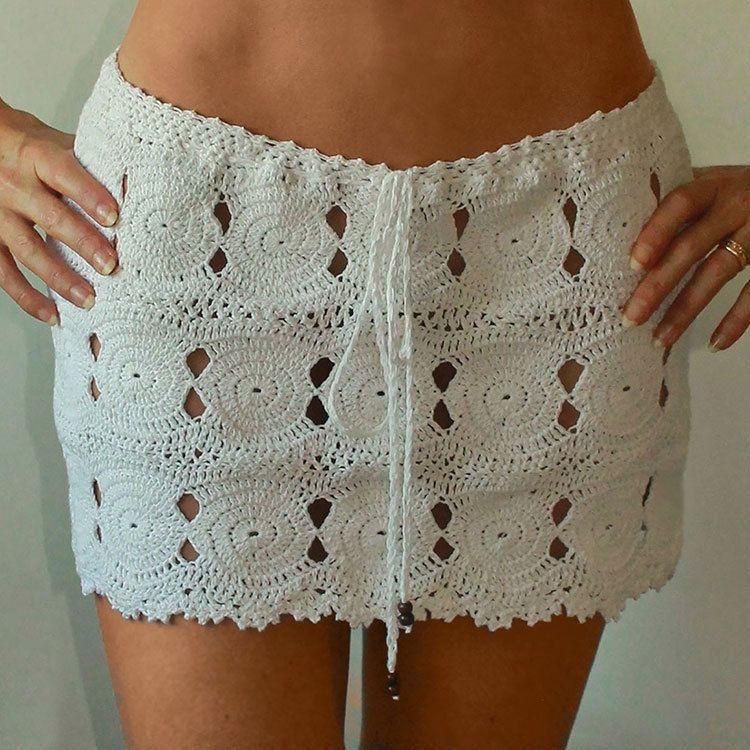 Online Cheap 2017 Summer New Mini Skirt Hand Crochet Dropped Waist