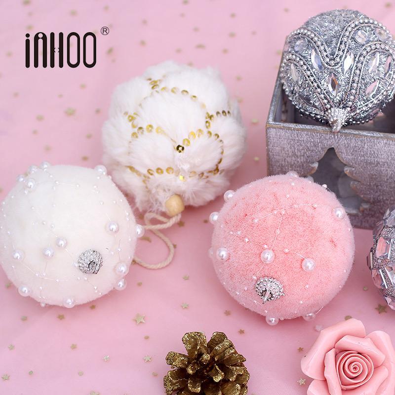 Inhoo Christmas Tree Ornaments Decor 7 8cm Foam Balls Rhinestone