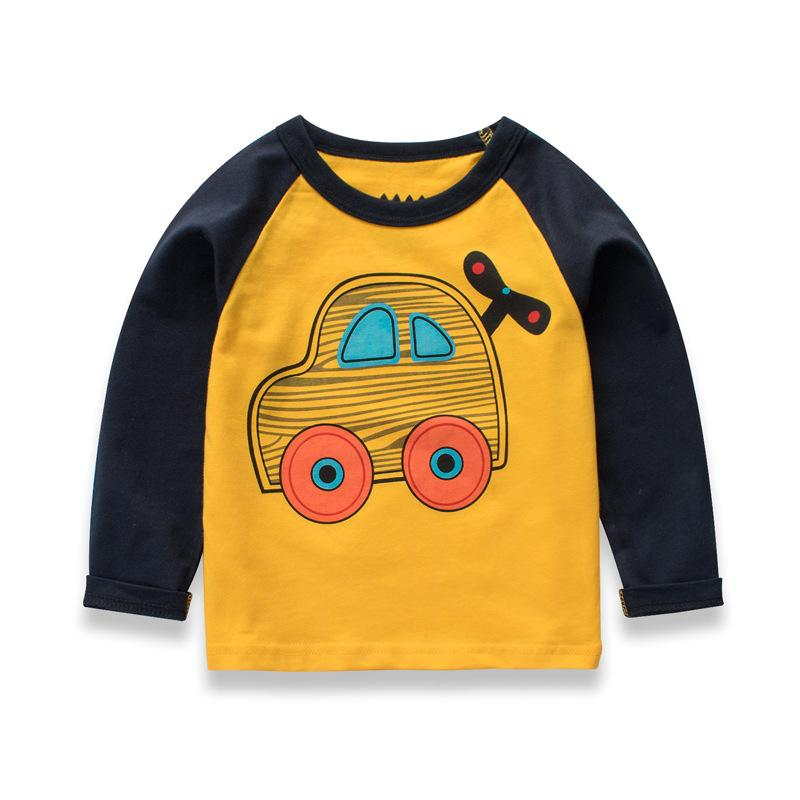 48142f133 2018 Boy Clothes Long Sleeve T-shirt Boys Cartoon T-shirts Kids ...