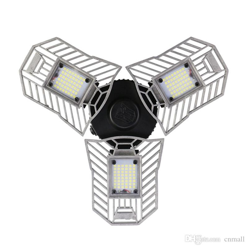 60W E27 Deformable led light Fan-shaped foldable High Brightness indoor lamp 2836 led chips Ceiling Light for Garage/Basement