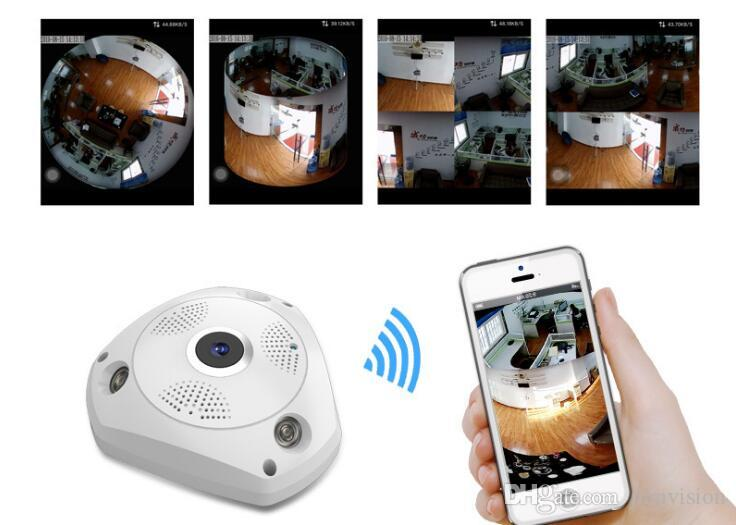 Two Way Audio talk Motion Detection Alarm SD/TF Card Recording Home Security System 360 Degree Fisheye Panoramic VR Wireless indoor Camera