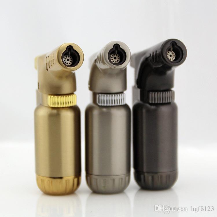 크리 에이 티브 스프레이 건 부탄 가스 토치 라이터 소화기 유형 리필 금속 방풍 시가 라이터 토치 화재 바베큐 도구.