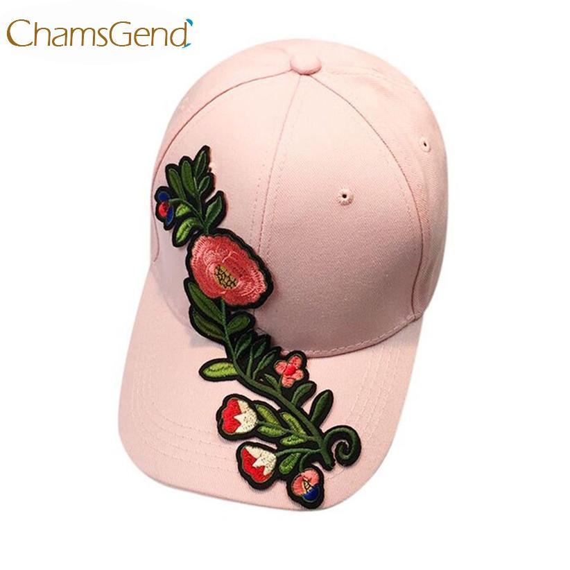 c26fc323c7ab Sombrero Recién Diseño 3D Flores Gorras de Béisbol Snapback de Verano Para  Mujeres Hombres # 0801