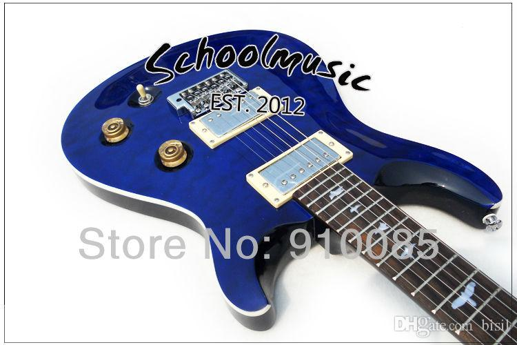 Best Price Selling New Blue Maple Top Custom Electric Guitar Musical Instruments