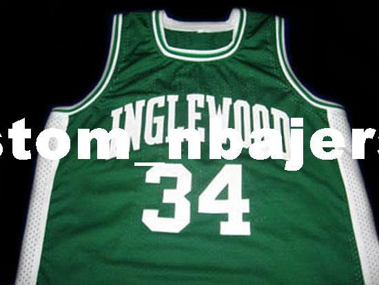 3217da91c 2019 Wholesale Paul Pierce  34 Inglewood High School Basketball Jersey  Green Stitched Custom Any Number Name MEN WOMEN YOUTH BASKETBALL JERSEYS  From ...