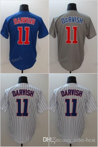 ... promo code for 2018 mens 11 yu darvish baseball jerseys cheap stitched  blue gray white pinstripe d99c61ef2