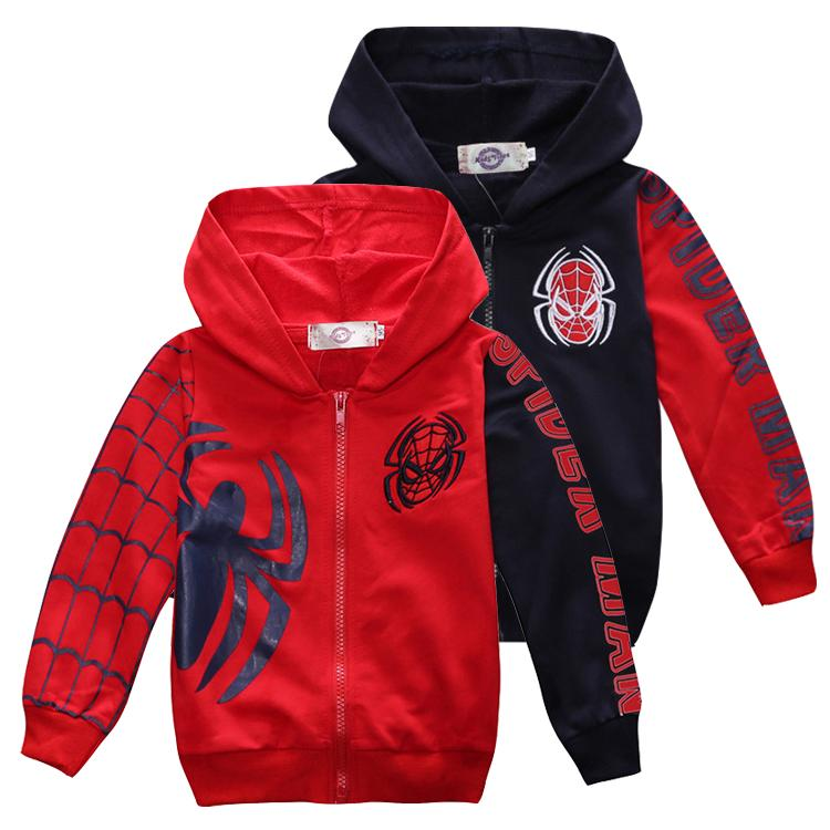 ef2a801b Spider Kids Hoodie Jackets 18M~7 Years Old Kids Zipper Hoodie Jackets Baby Boys  Hoodies Coats Kids Clothes LA993 Boys Down Jacket With Hood Kids Quilted ...