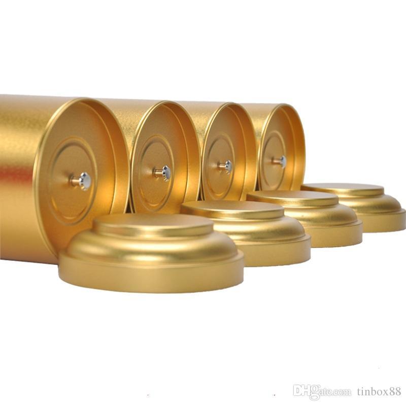 Cassa rotonda / all'ingrosso dell'alimento della scatola di metallo di stoccaggio di Candy di scatola del contenitore di latta del tè di Dia.108X170mm