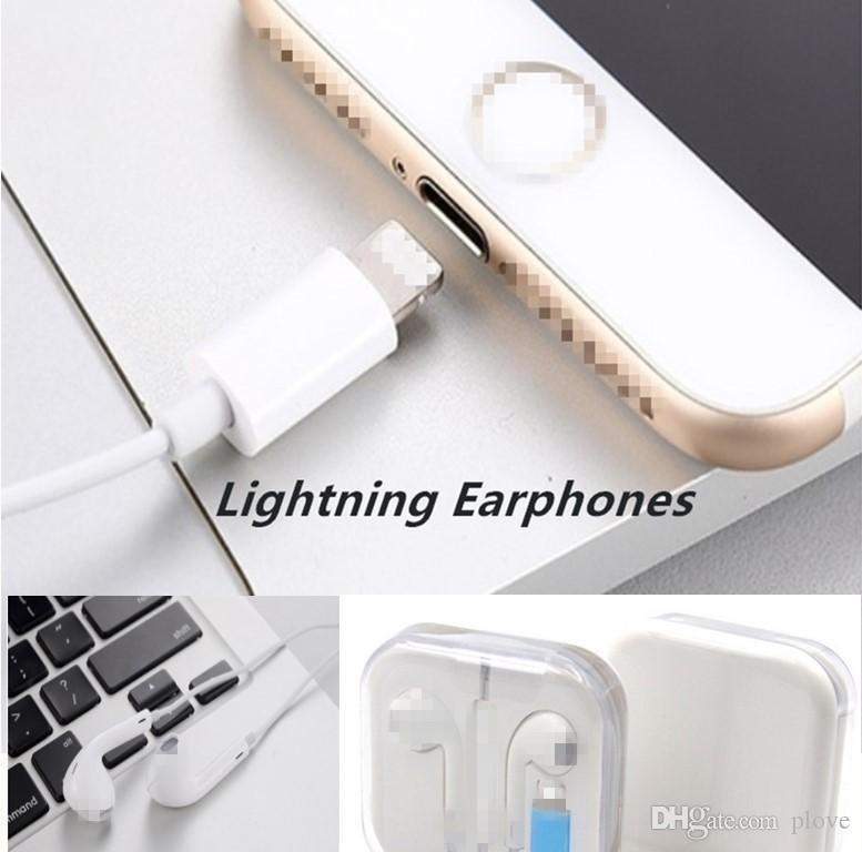 Headphones In-Ear Lightning high quality Earphone Earset headphone Earbuds  With mic & Volume Control Earphone for iphone phone
