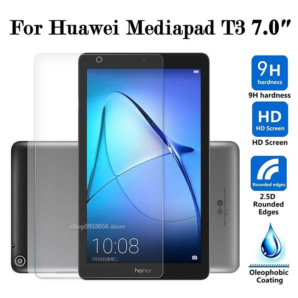 newest 29aa9 a10f9 For Huawei MediaPad T3 7.0 Glass 7 inch WiFi 4G Version Tempered Glas  Screen Protector Protective Film Tablet Protection 2.5D 9H