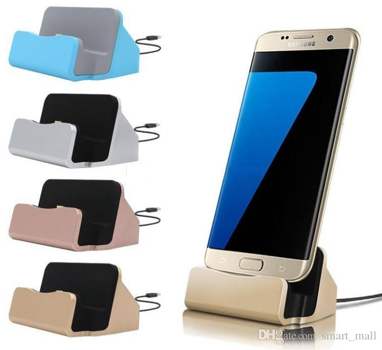 7d52f09cf81 Universal Micro Type C Dock Charging Stand Cradle Charging Station For  Samsung Galaxy S4 S6 S7 S8 Htc Android Phone LLFA Power Bank With Light  Wireless ...