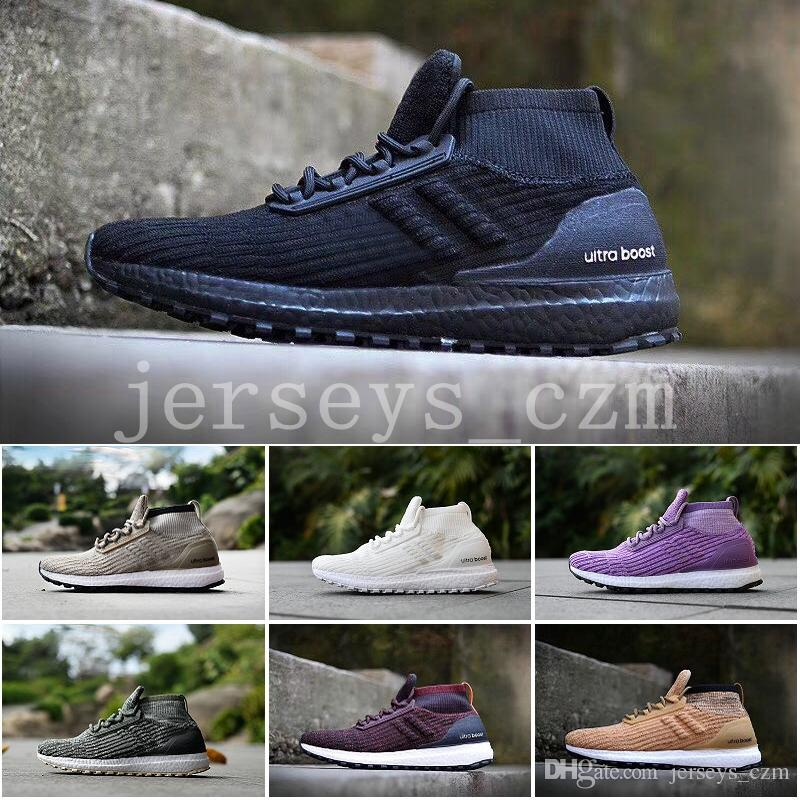 33a8051f09f2c 2019 2018 Ultra Boost ATR Mid Primeknit Running Shoes Men Women Black White  Burgundy Oreo Trace Green Khaki Ultraboost All Terrain Boost Sneakers From  ...
