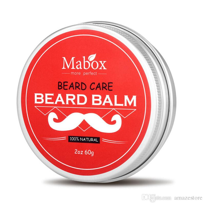 High Quality Mabox Natural Beard Conditioner Beard Balm For Gentlemen 60g  Natural Organic Moustache Wax For Whiskers Smooth Styling