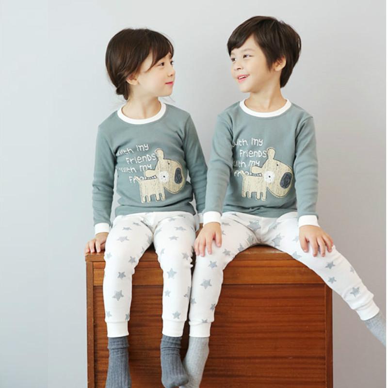 où acheter 100% de qualité invaincu x 2pcs / set enfants pijamas infantil sous-vêtements chauds bébé garçons  filles pyjamas ensembles hiver vêtements de bande dessinée vêtements de  nuit ...