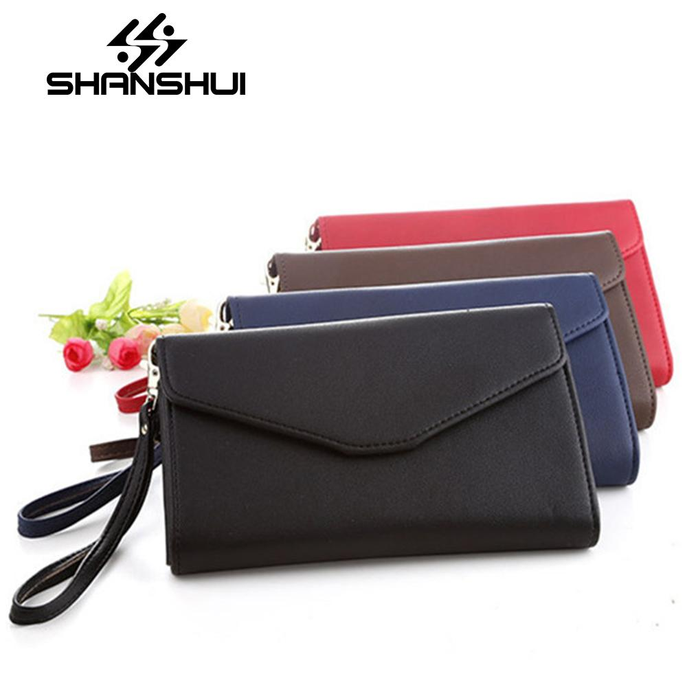 fcde9241ad8 SHANSHUI Handbag Women's Purse Hot Sale Multifunction Evening female  Clutches Envelope Bag Newest PU Leather Wallet Cover Bag