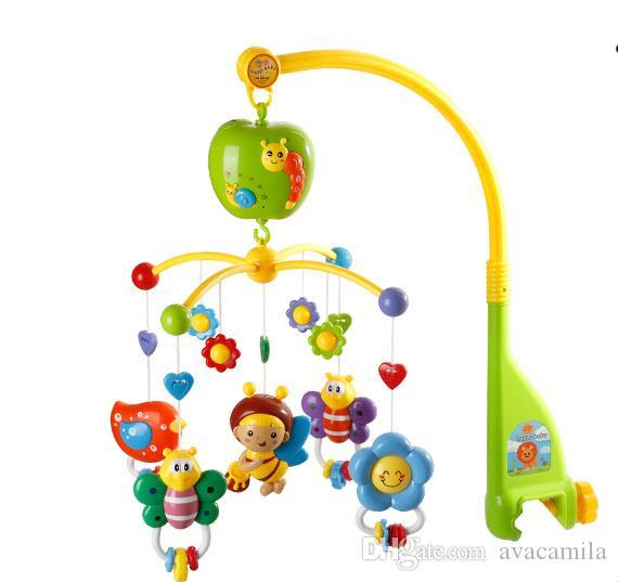 gro handel baby bett klingelton musik dreht den kopf des bettes mit einem baby spielzeug 0 1. Black Bedroom Furniture Sets. Home Design Ideas
