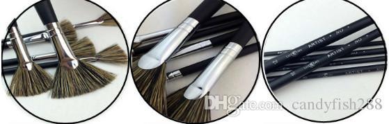 Boyama Malzemeleri Siyah saç kılları fan kalem guaj sert fırça