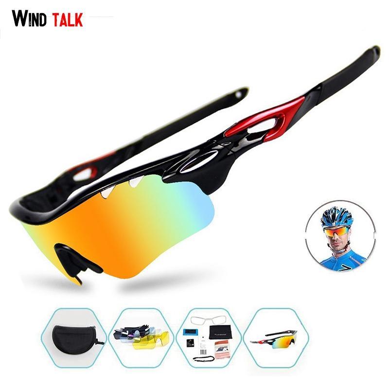 4485b2852dda 2019 Wind Talk TR 90 Frame Polarized Unisex Mtb Bike Glasses Sport Outdoor Windproof  Running Sunglasses Men Cycling Goggles From Noteest