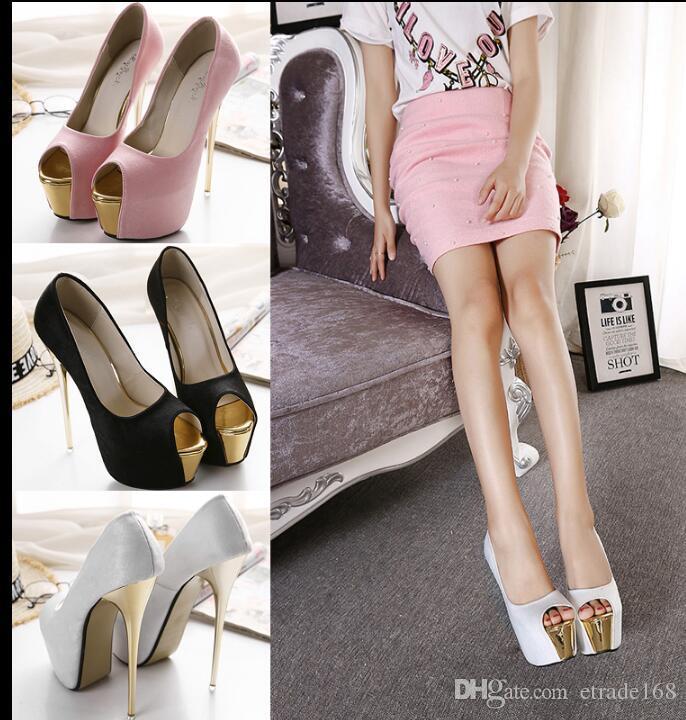 6e478121c9de Women s High Heels Sexy Overheight with 17cm Night Club Fine Heel ...
