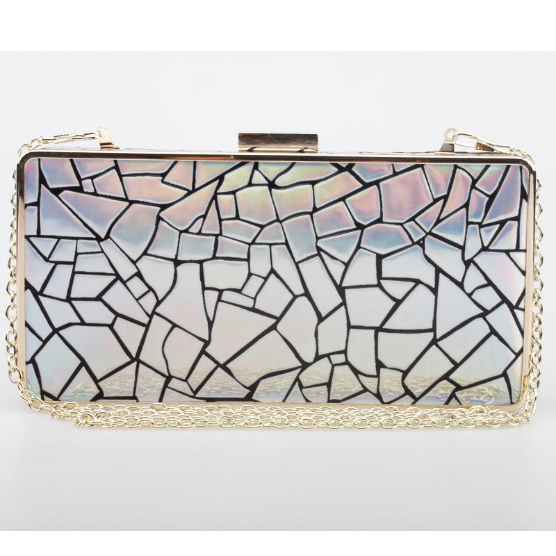 2016 New Design Laser Geometric Patterns Wedding Party Clutch Evening Bag  Purse Fashion Ladies Mini Shoulder Bag Handbag Wallet Evening Bags Designer  ... 5778eef36a