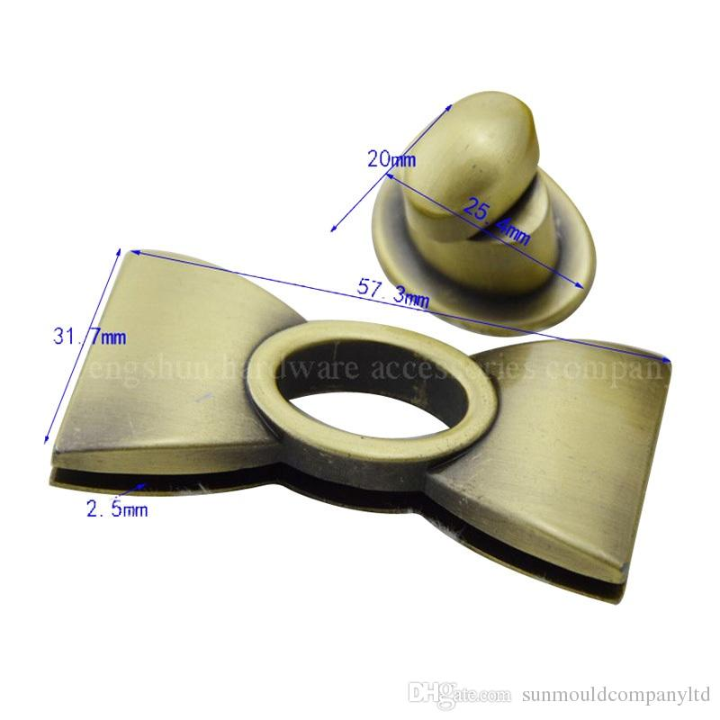 여자 브랜드 가방 잠금 핸드백 패션 백팩 cutch messager 가방 하드웨어 턴 잠금 버클 가방 액세서리 bowtie 장식