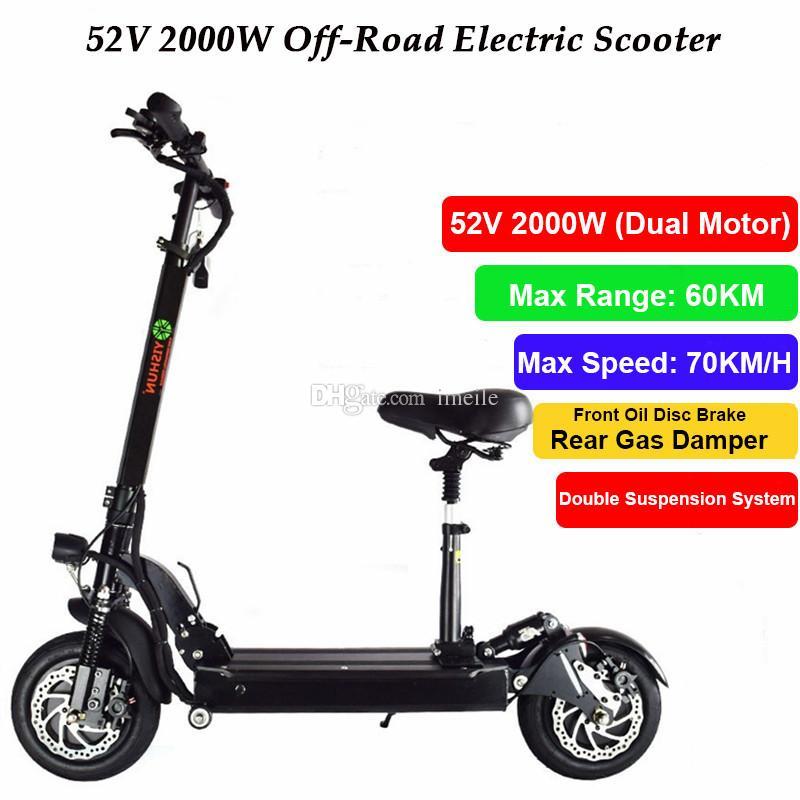 6948b994dee Compre 2000 W Poderoso Duplo Motor Scooter Elétrico Skate Off Road  Hoverboard Mini Bicicleta Com Controle Remoto Assento Para Adultos De  Imeile